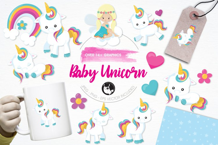 Baby Unicorn graphics and illustrations example image 1