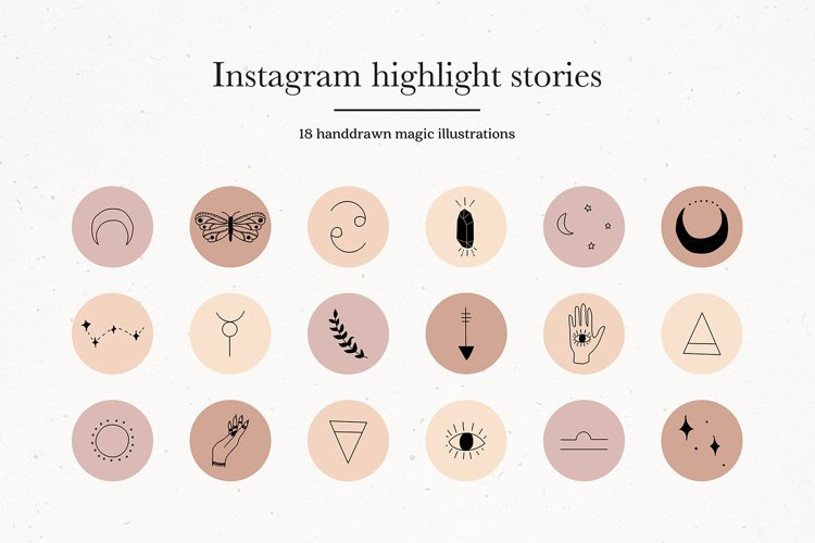 Instagram Magic Story Highlights Icons Covers example image 1