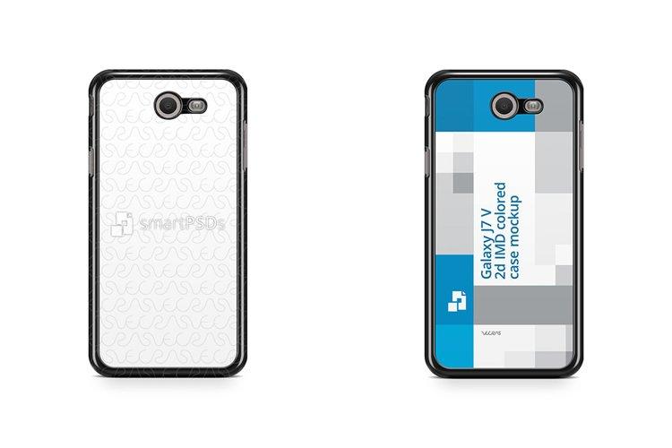 Samsung Galaxy J7 V 2d Colored Case Design Mockup Back 2017 example image 1