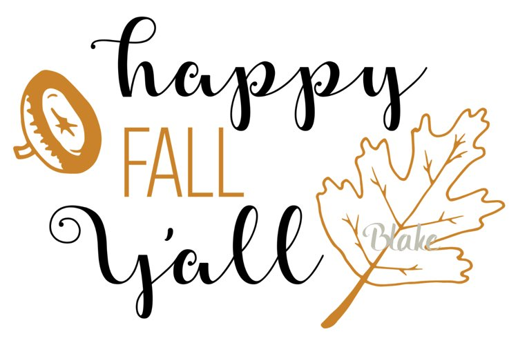 Happy Fall Y'all svg Fall svg Fall leaves t-shirt design svg example image 1