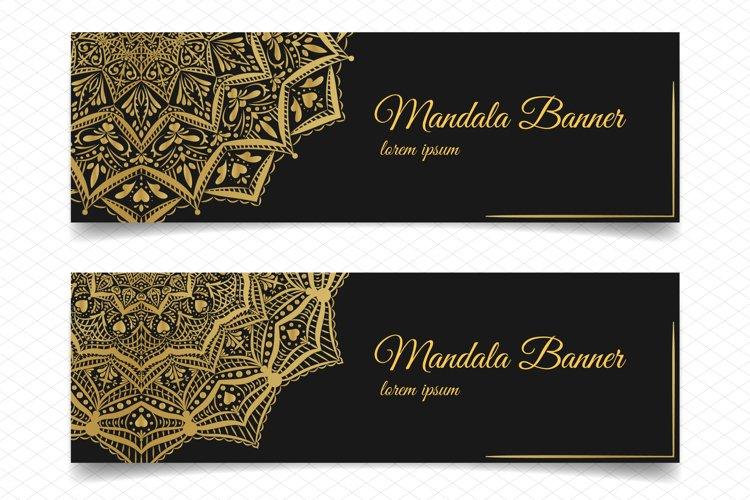 two elegant mandala banners