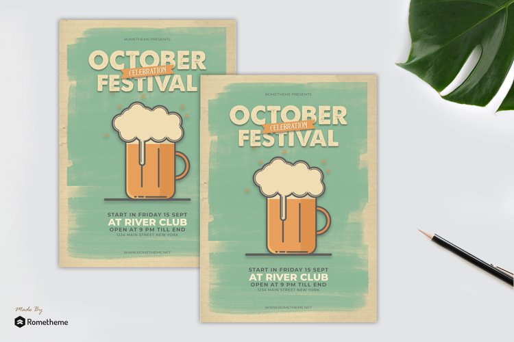 October Festival Flyer vol. 01 example image 1