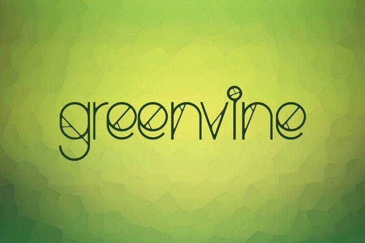 Greenvine Display Font example image 1