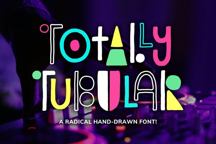 Totally Tubular Font example image 1