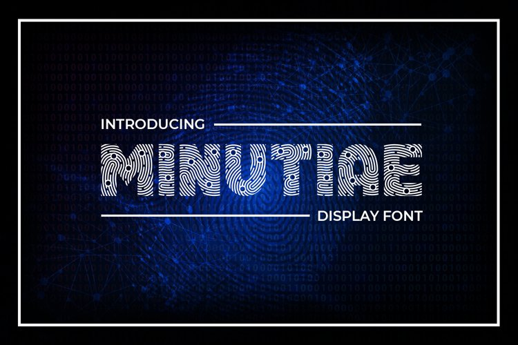 Minutiae Display Font example image 1