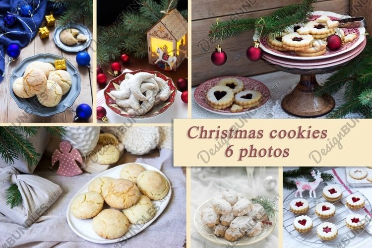 A set of photographs of Christmas cookies. example image 1