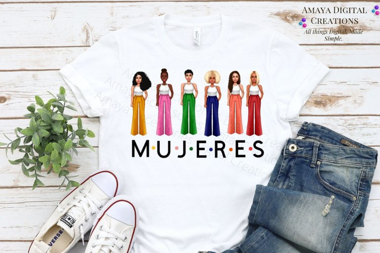 Mujeres Svg File,Women Png Files,Instant Download example image 1