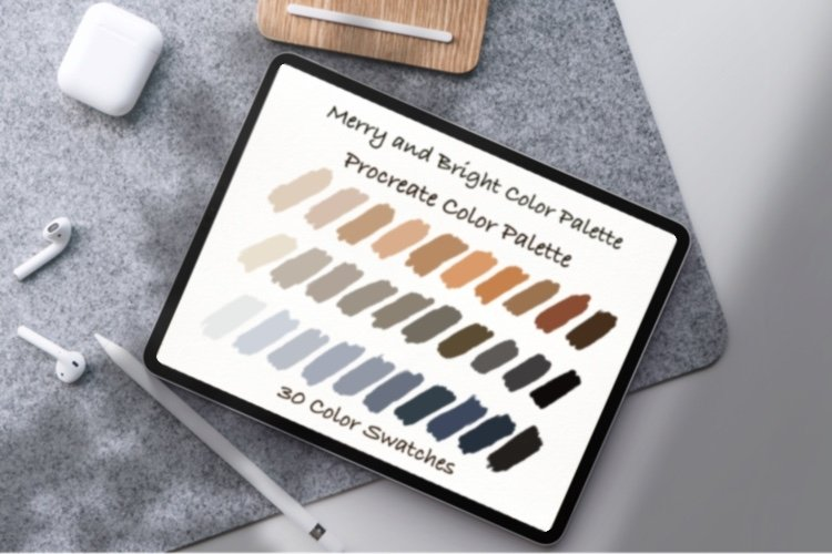 Merry and Bright Color Palette ,Procreate palettes example image 1