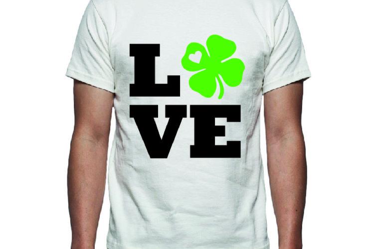 Love St Patricks Day Tee Shirt Design