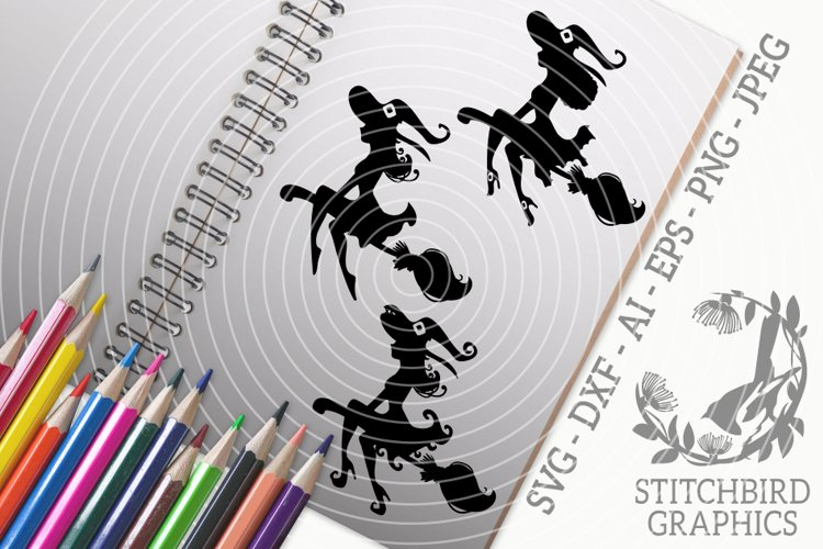Witch Silhouettes Bundle SVG, Silhouette Studio, Cricut, Eps example image 1