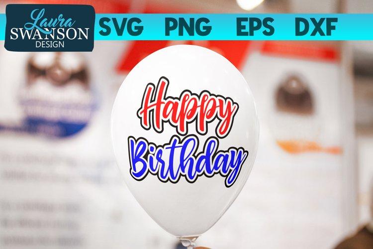 Happy Birthday SVG, PNG, EPS, DXF