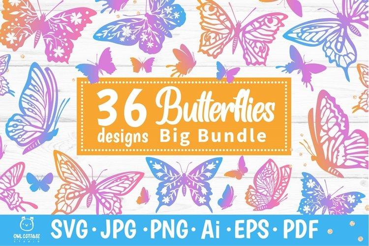 Butterflies SVG Bundle, butterfly PNG, butterflies svg example image 1