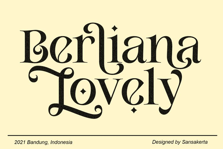 Berliana Lovely Serif example image 1