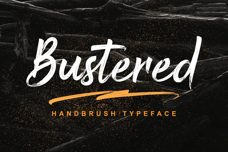 Bustered - Handbrush Typeface example image 1