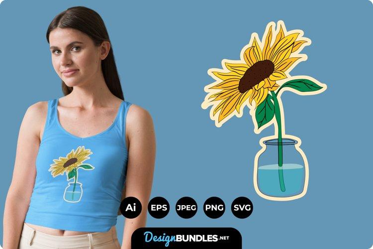 Sunflower Illustrations for T-Shirt Design example image 1