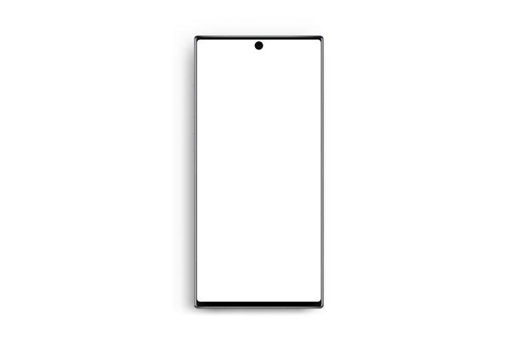 Modern frameless cellphone mockup isolated example image 1