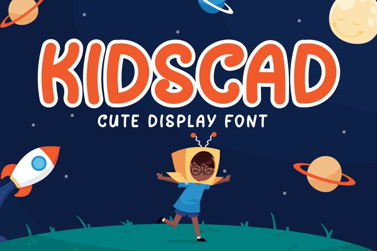 Kidscad - Cute Display Font example image 1