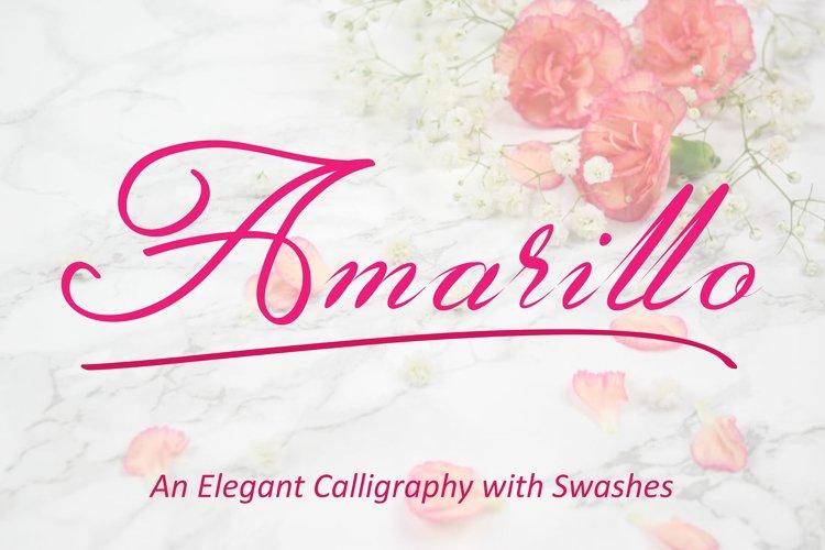 Amarillo | Elegant Calligraphy example image 1