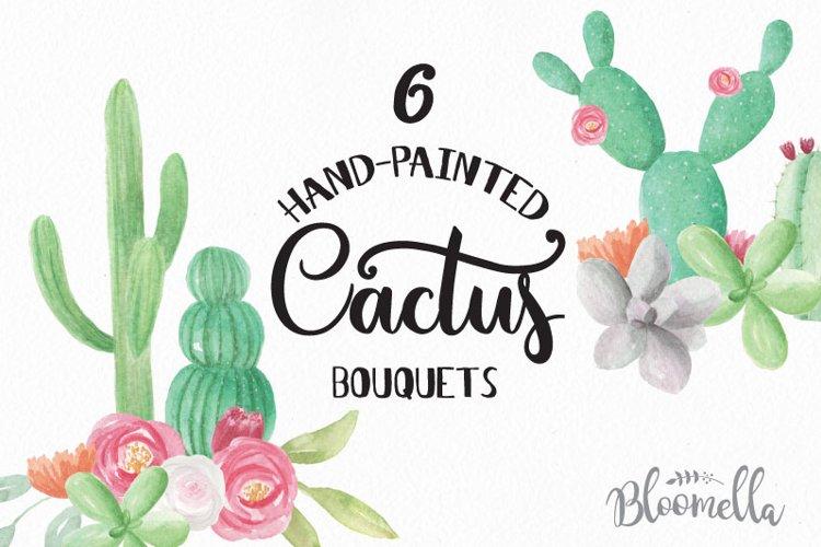Watercolor Cactus Clipart Bouquets Arrangements Flowers example image 1
