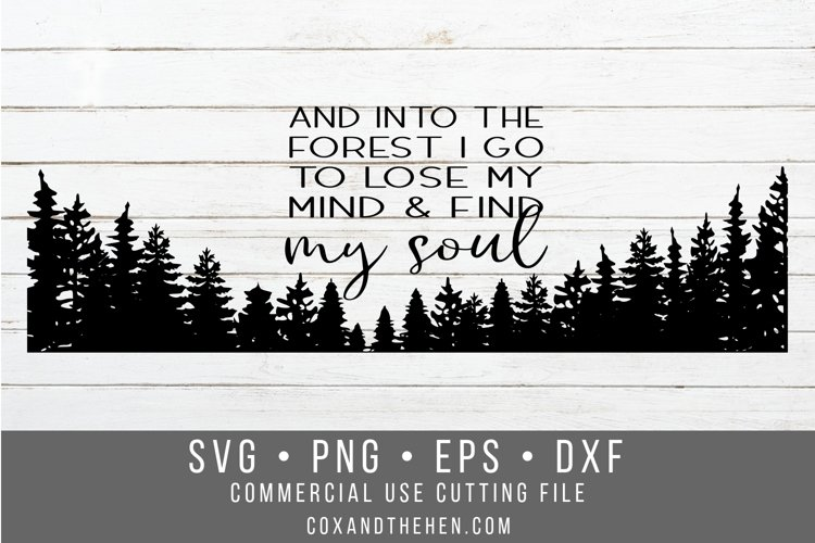 Find my Soul Forest Wood Sign Stencil SVG example image 1