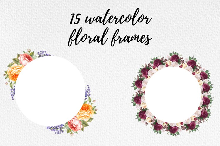 Floral Wreaths, Frames with Vintage Flowers