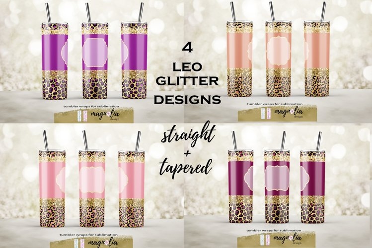 leopard glitter tumbler wrap png 20 oz tumbler bundle example image 1