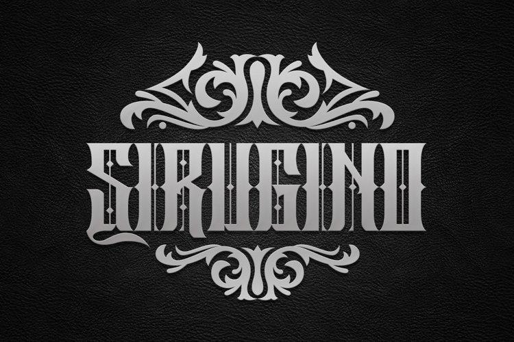 Sirugino Typeface example image 1