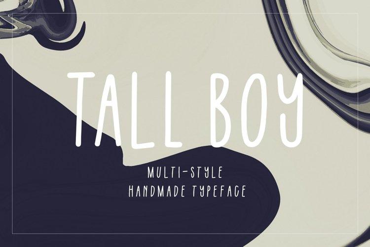 Tall Boy   Handwriting Font example image 1