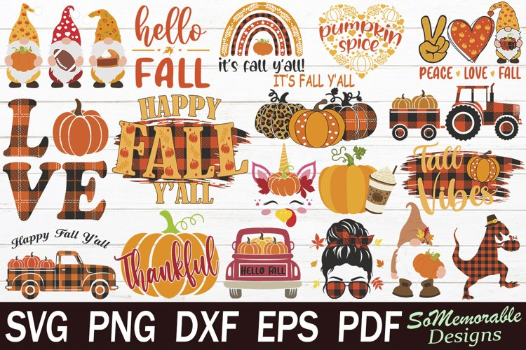 Fall SVG Bundle, Thanksgiving SVG Cut File example image 1