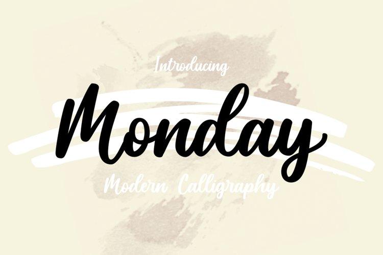 Monday modern calligraphy