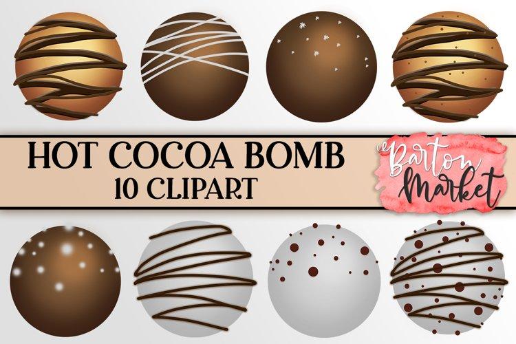 Hot Cocoa Bomb Clipart Illustrations Bundle
