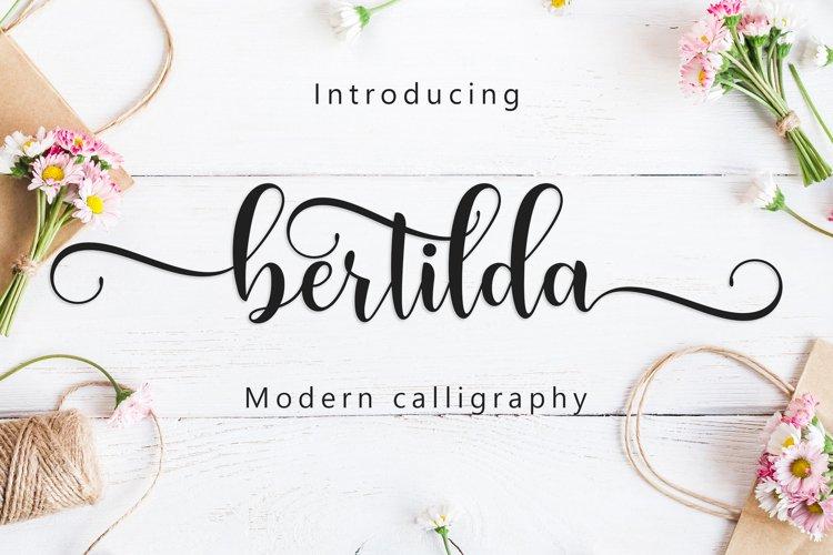 Bertilda Script example image 1