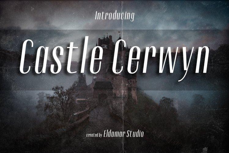 Castle Cerwyn Font example image 1