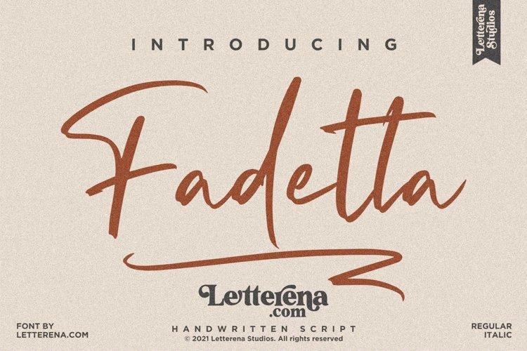 Fadetta - Handwritten Script Font example image 1