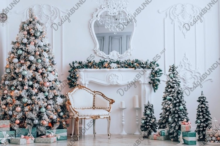 Christmas and New Year's elegant decor tree with gifts example image 1