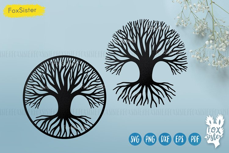 Tree of Life Svg, Tree cut file Svg Png Pdf Eps, Tree dxf example image 1