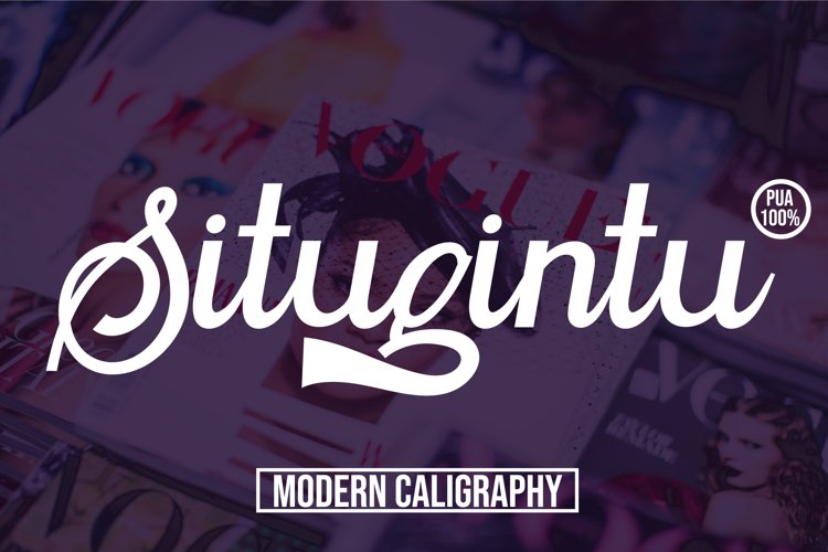 Situgintu Calligraphy example image 1