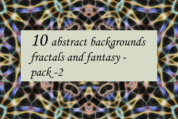 10 abstract fractal Backgrounds pack-2 example image 1