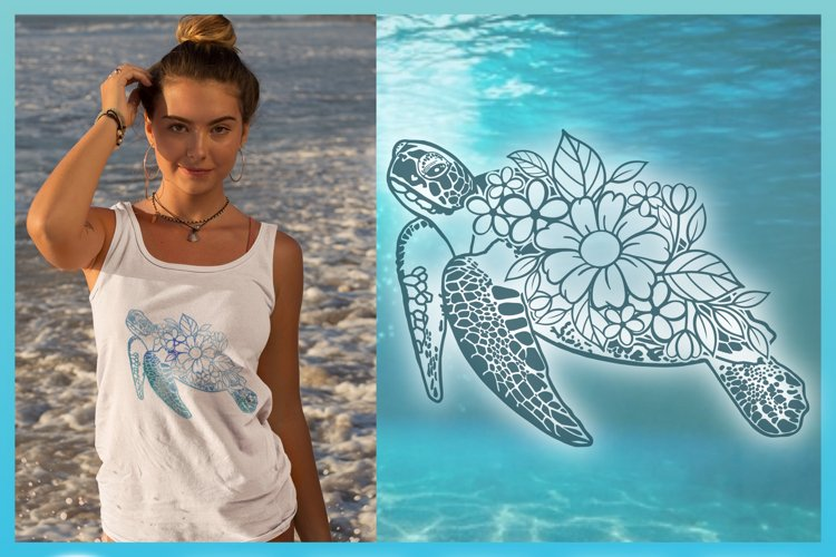 Floral Turtle Shell   Flower Mandala Zentangle SVG - Free Design of The Week Design1