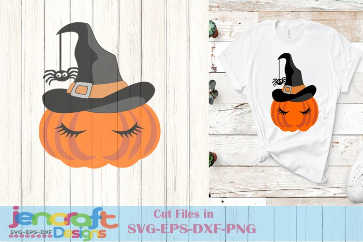 Pumpkin Svg - Halloween Witch Face Svg File image down example image 1