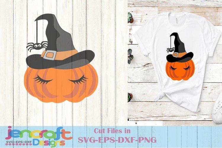 Pumpkin Svg - Halloween Witch Face Svg File image down
