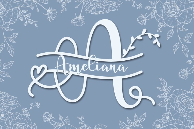 ameliana monogram example image 1