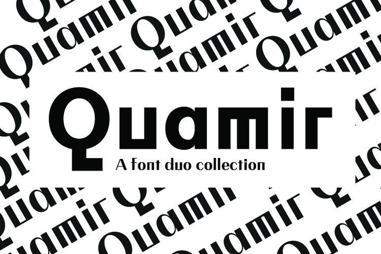 QUAMIR, A Display Font Duo example image 1