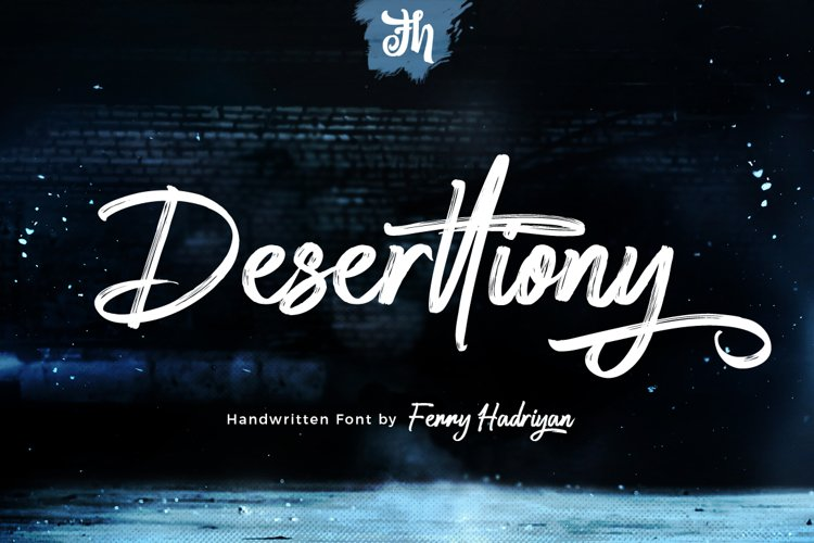 Deserttiony - Handwritten Font example image 1