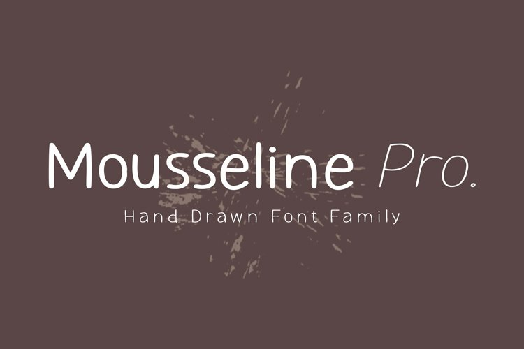 Mousseline Pro - Hand Drawn Font example image 1