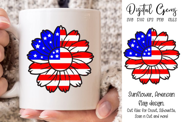 American Flag, Sunflower SVG / PNG / EPS / DXF files