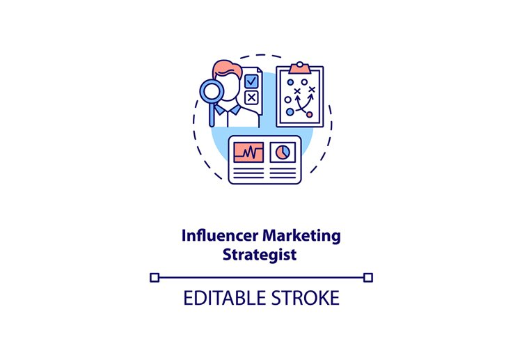 Influencer marketing strategist concept icon example