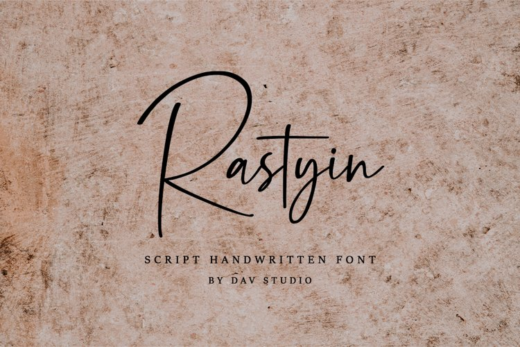 Rastyin - Handwritten Font example image 1