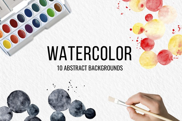 Abstract watercolor backgrounds and shapes example image 1