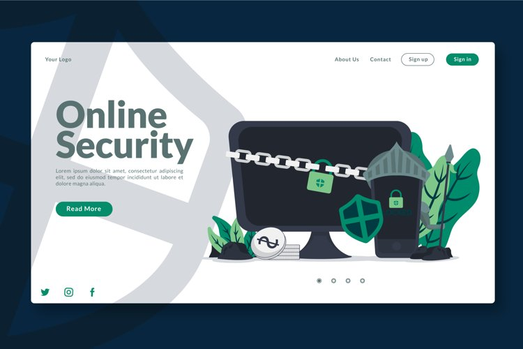 Digital Online Security - Landing Page example image 1